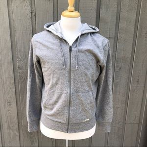 POLO RALPH LAUREN Heather Gray Knit Hoodie Size M